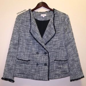Ann Taylor LOFT tweed blazer jacket
